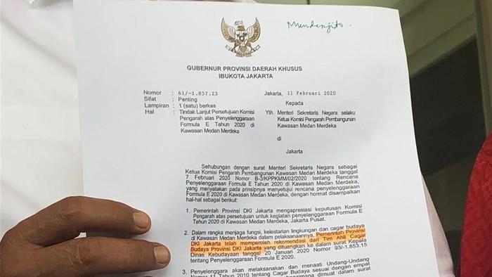 Ketua DPRD DKI Prasetio Edi Marsudi adukan Dugaan Manipulasi Izin TACB untuk Formula E ke Kemensetneg