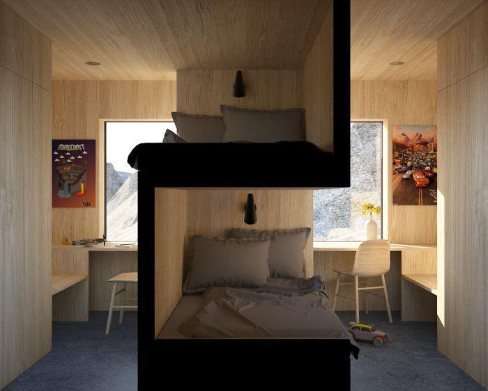 Bentuk tempat tidur seperti ini bisa jadi pilihan bagi keluarga yang memiliki anak cukup banyak tetapi memiliki kamar yang sedikit di rumah. Pasalnya, dengan kondisi tempat tidur seperti ini penghuni kamar tetap memiliki ruang sendiri meski berbagi kamar dengan orang lain. Istimewa/Dok. Boredpanda.