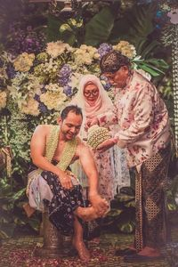 Proses upacara siraman dalam pernikahan adat Jawa