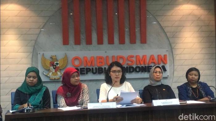 Jaringan Peduli Pemberantasan Tindak Pidana Perdagangan Orang (TPPO) mendatangi Ombudsman RI (Farih Maulana Sidik/detikcom)