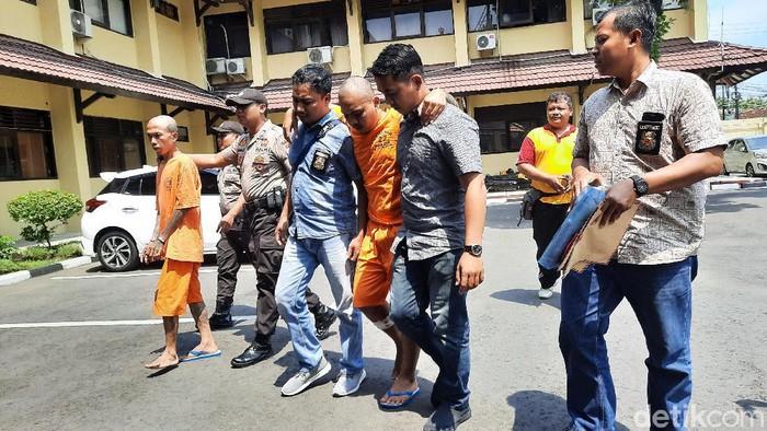 Seorang preman sadis di Daerah Istimewa Yogyakarta (DIY) bernama Santang menyerahkan diri ke Polda DIY, Jumat (14/2/2020).