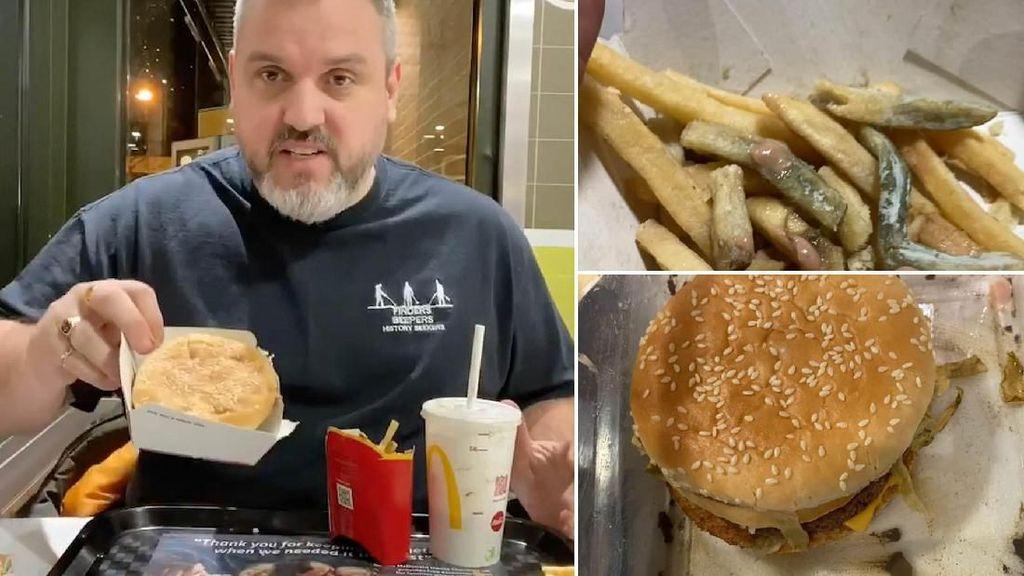 Hii..! Pria Ini Makan Burger dan Kentang Goreng yang Dikubur Selama Setahun