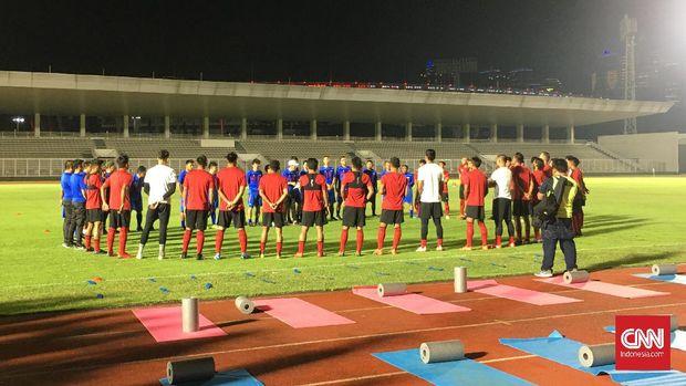 Timnas Indonesia mulai berlatih di bawah arahan Shin Tae Yong. (
