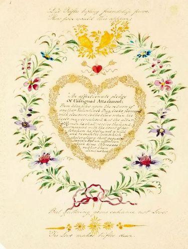 Ditemukan Kartu Ucapan Valentine Tertua di Dunia, Isinya Sungguh Romantis