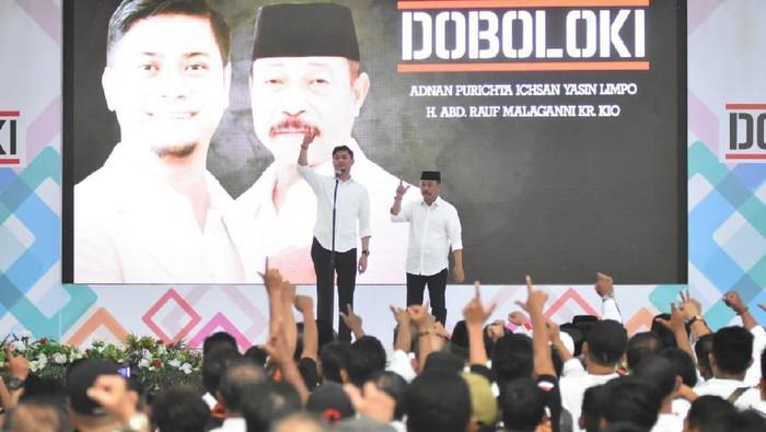 Pasangan calon Bupati dan Wakil Bupati Gowa Petahana, Adnan Purichta Ichsan-Abdul Rauf Mallaganni Karaeng Kio