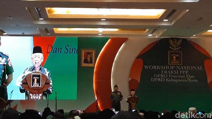 Maruf Amin hadiri acara PPP (Foto: Rahel Narda/detikcom)