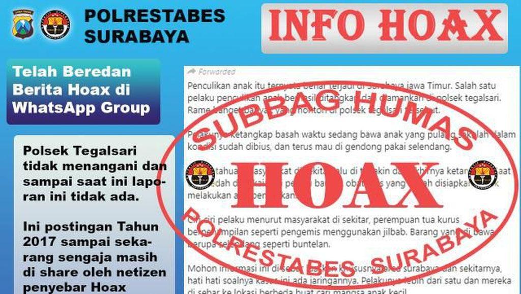 Polisi Pastikan Isu Penculikan Anak di Surabaya Hoaks