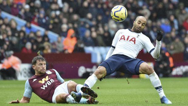 Aston Villa memberikan perlawanan sengit pada Tottenham Hotspur.