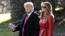 Foto: Gaya Melania Trump ke Rumah Sakit Anak Pakai Coat Rp 9 Juta