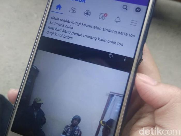 Postingan yang mengabarkan penculikan di Bandung Barat