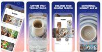 Aplikasi Hobbi rancangan Facebook mirip Pinterest.