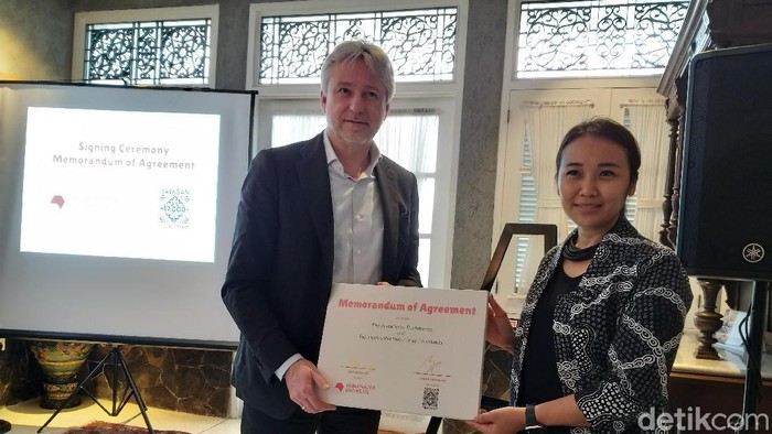 Frankfurt Book Fair Pilih Jakarta Jadi Lokasi Pameran Konten Internasional (Tia Agnes/detikcom)