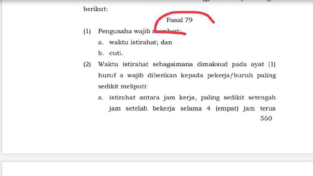 Omnibus Law Tak Hapus Cuti Haid-Cuti Melahirkan