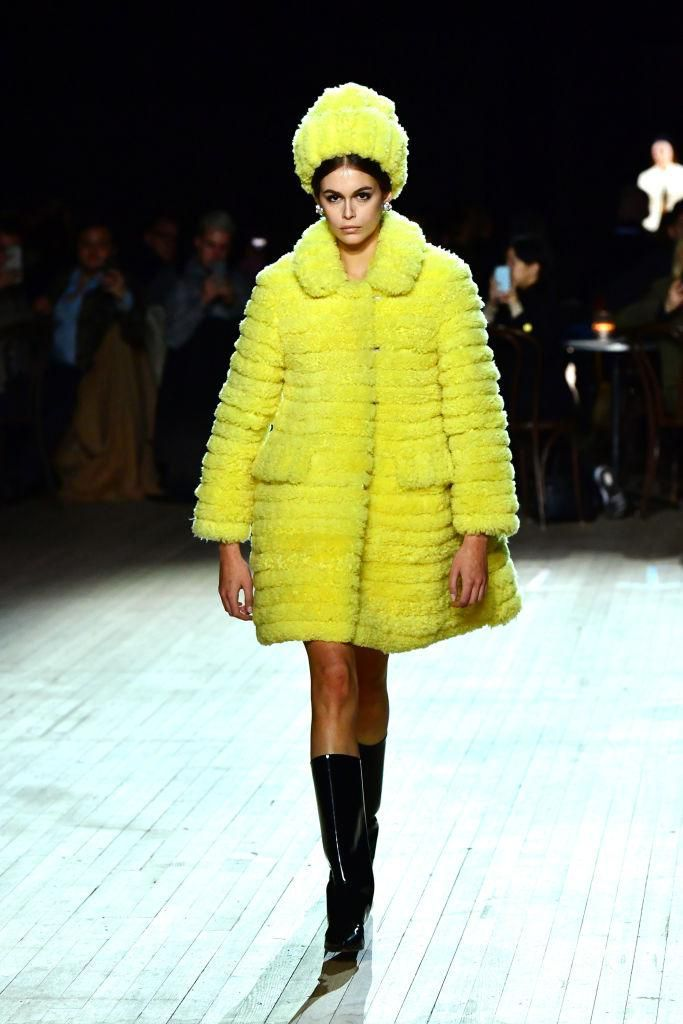 NEW YORK, NEW YORK - FEBRUARY 12: Kaia Gerber walks the runway at the Marc Jacobs Fall 2020 runway show during New York Fashion Week on February 12, 2020 in New York City. (Photo by Slaven Vlasic/Getty Images for Marc Jacobs)