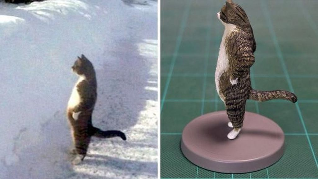 Kocak! Ketika Tingkah Hewan yang Viral Dijadikan Patung 3D