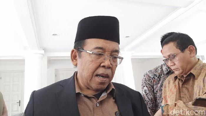 Juru Bicara Wakil Presiden Maruf Amin, Masduki Baidlowi (Lisye Sri Rahayu/detikcom)