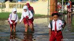 Bikin Miris! Sudah Sebulan SD di Sidoarjo Terendam Banjir
