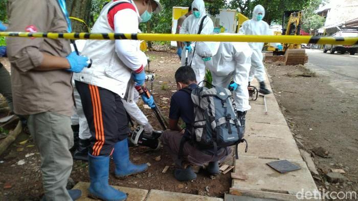 Lokasi limbah radioaktif di perumahan Batan Indah, Serpong, Tangerang Selatan.