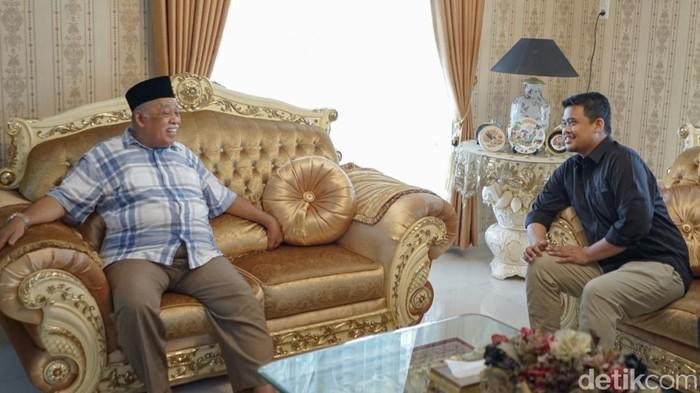 Bobby Nasution menemui warga Medan Deli. Bobby dijodohkan dengan kader Gerindra untuk Pilkada Medan (Haris Fadhil/detikcom)
