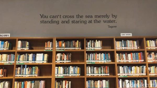 Ada juga beberapa quotes yang terpampang menghiasi dinding perpustakaan. (Elmy Tasya Khairally/detikcom)