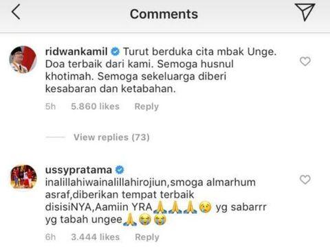 Ashraf Sinclair Meninggal, Ridwan Kamil Sampaikan Belasungkawa