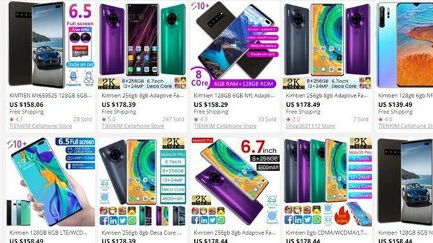 Duh, Ponsel Samsung dan Huawei KW Banjiri AliExpress