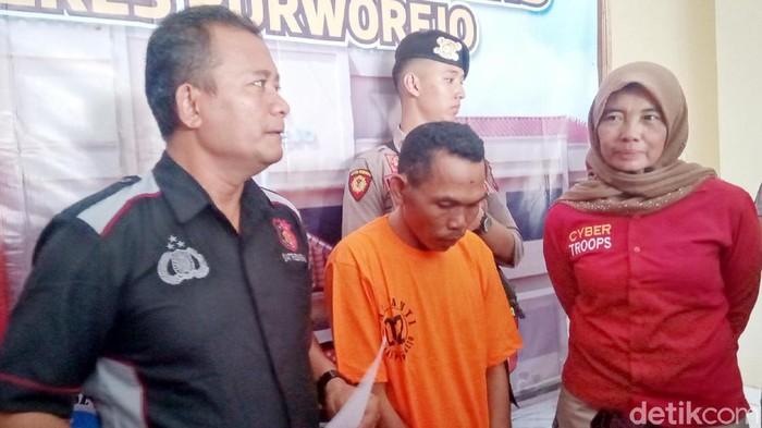 Seorang duda, Waluyo (43), ditangkap polisi setelah tega menyetubuhi siswi SMK di Kabupaten Purworejo, Selasa (18/2/2020).