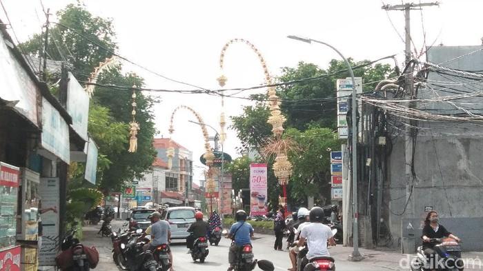 Penjor di Bali menyambut Hari Raya Galungan (Angga Riza/detikcom)