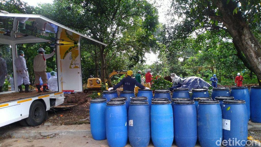 Pembersihan Limbah Radioaktif di Tangsel Dilanjut Besok, 199 Drum Diangkut