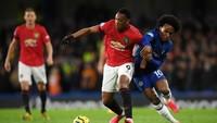 Chelsea Vs Man United: Martial Bawa Setan Merah Unggul di Babak Pertama