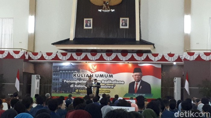 Maruf Amin di Universitas Mataram