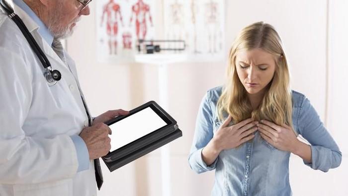 Gastroesophageal reflux disease GERD on a clinic desk.