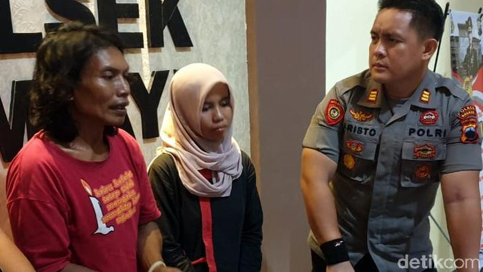 Pasutri asal Brebes ditangkap polisi karena mengurung dan memaksa seorang gadis ABG seks bertiga alias threesome. Seperti apa tampang keduanya?