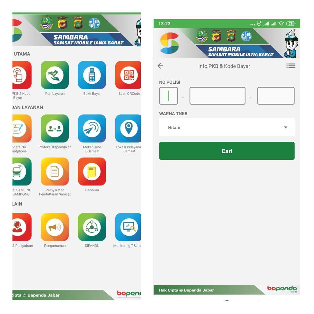 Bayar pajak aplikasi Sambara