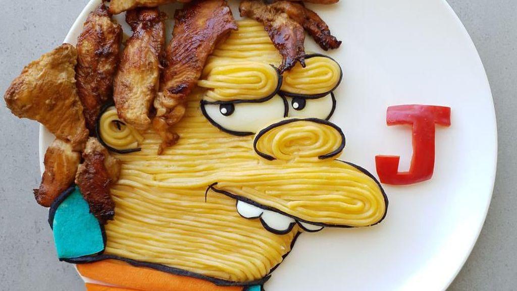 Menggemaskan! Kreasi Makanan Ini Berbentuk Karakter Kartun