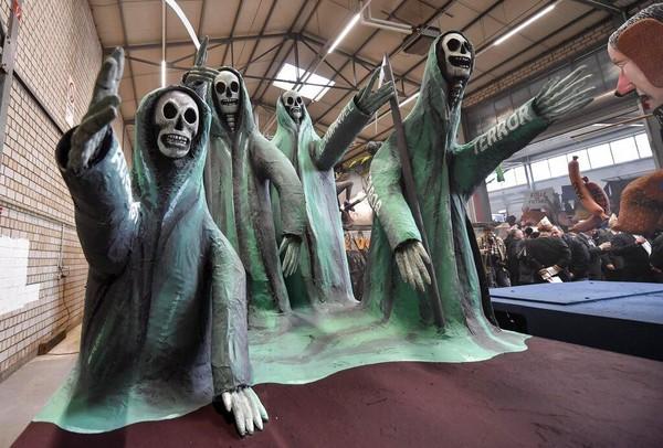 Parade karnaval Jerman itu rencananya akan digelar di akhir bulan Februari. AP Photo/Martin Meissner.