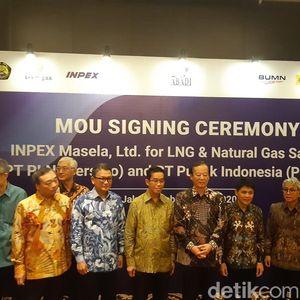 INPEX Mulai Bahas Penjualan Gas ke PLN-Pupuk Indonesia