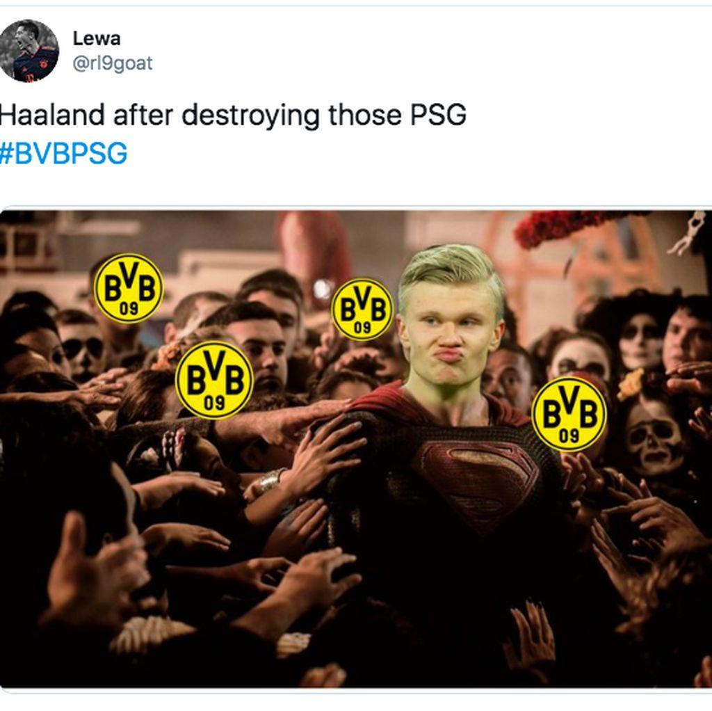 Deretan Meme Keganasan Erling Haaland