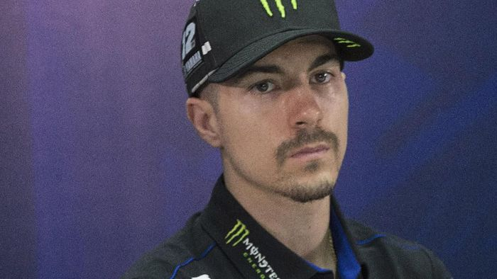 KUALA LUMPUR, MALAYSIA - FEBRUARY 06:  Maverick Vinales of Spain and Monster Energy Yamaha MotoGP Team looks on during the 2020 Team Monster Energy Yamaha MotoGP presentation during the MotoGP Pre-Season Teams Unveiling at Sepang Circuit on February 06, 2020 in Kuala Lumpur, Malaysia. (Photo by Mirco Lazzari gp/Getty Images)