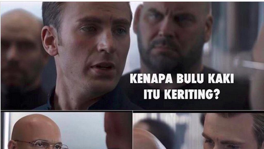 Captain America Dikeroyok Jadi Meme Receh, soal Bulu Kaki hingga Bebek