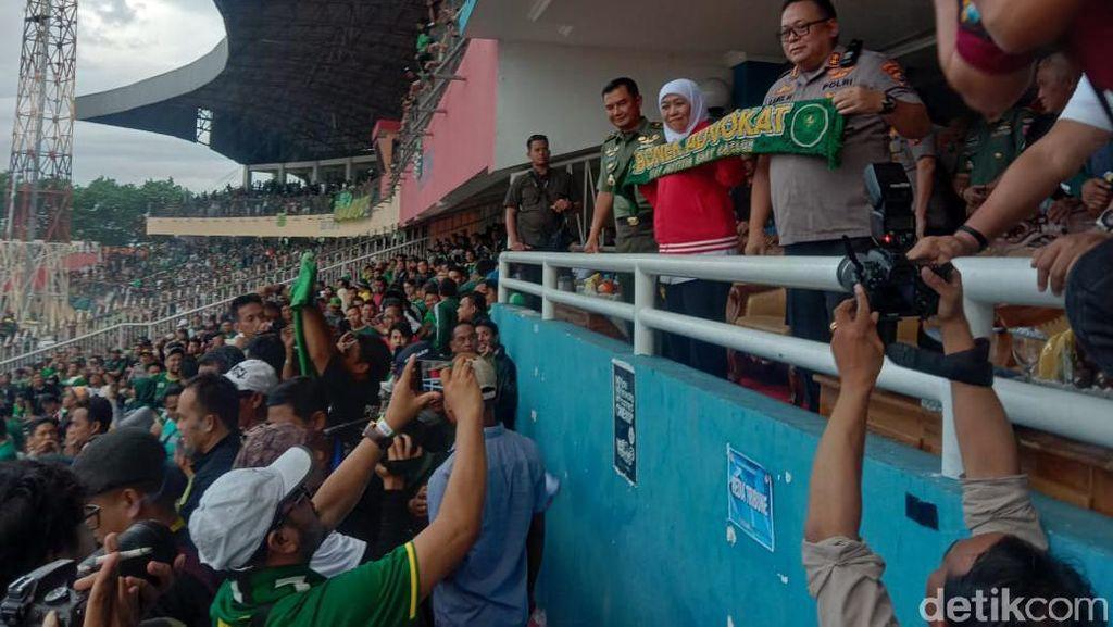 Gubernur Jatim Tiba di Stadion Gelora Delta Sidoarjo