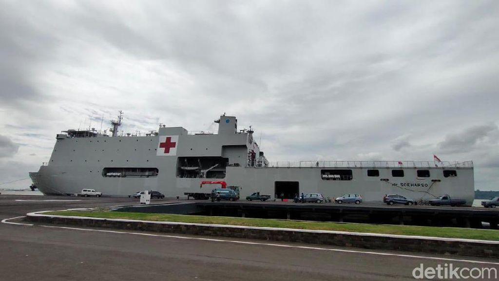 Kapal Perang KRI Dr Soeharso Bersiap Jemput 74 ABK Diamond Princess