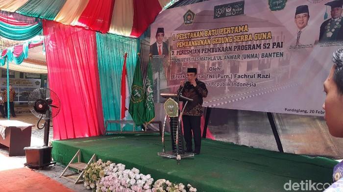 Menag Fachrul Razi di Pandeglang Banten. (Foto: Bahtiar/detikcom)