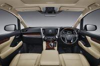 Interior Toyota Alphard terbaru.