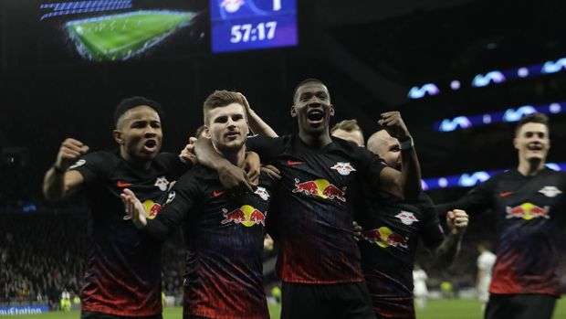 RB Leipzig mengalahkan Tottenham Hotspur 1-0. (