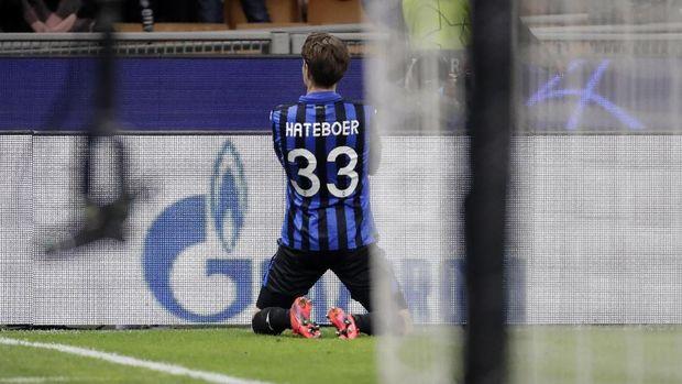 Hans Hateboer cetak dua gol untuk Atalanta di Liga Champions. (