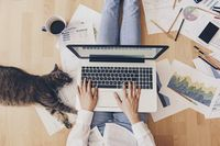 Ilustrasi kerja di rumah