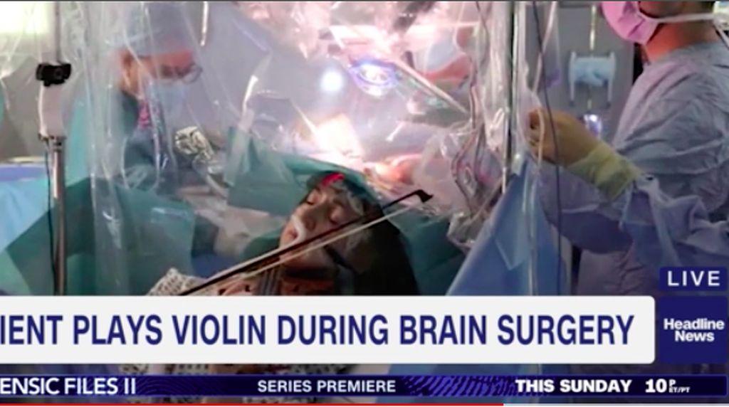 Santuy! Musisi Ini Asyik Main Biola Saat Dokter Membedah Otaknya