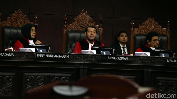 Sidang lanjutan uji materi UU dengan agenda mendengarkan keterangan dari perwakilan Pemerintah dan Komisi IX DPR RI digelar di Mahkamah Agung, Jakarta, Kamis (20/2/2020).