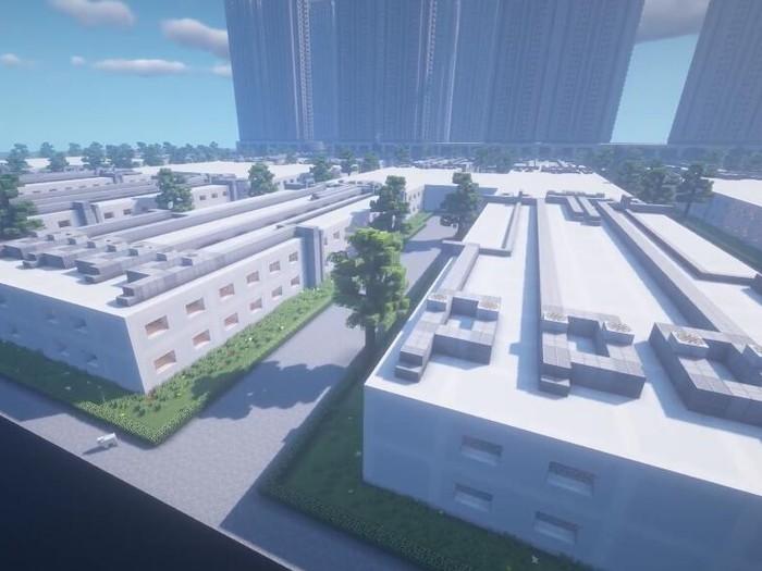 gamer buat rumah sakit corona di minecraft